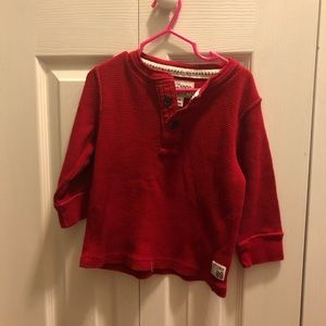 Toddler Boys Childrens Place Red Thermal Size 3T